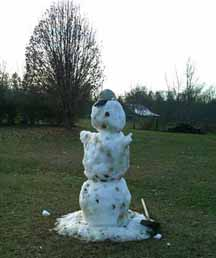 Mild Winter Snowman